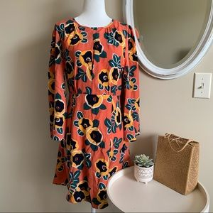 🦉/Love+Harmony Bell Sleeve Peach Mini Dress Sz M